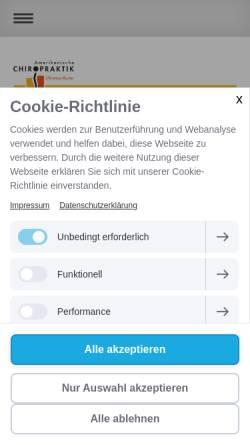 Vorschau der mobilen Webseite www.christina-reuter.de, Ganzheitliche Rückentherapie Christina Reuter