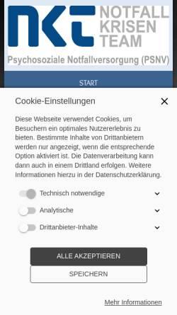 Vorschau der mobilen Webseite www.notfall-krisen-team.de, Notfall-Krisen-Team e.V. (NKT)