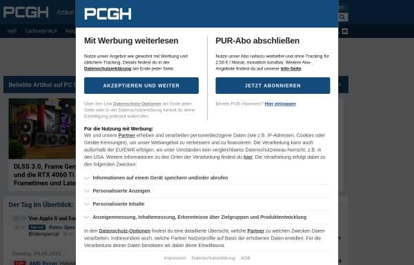 Vorschau von www.pcgameshardware.de, PC Games Hardware
