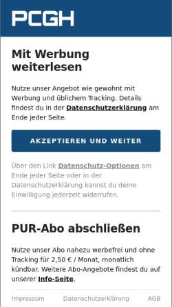 Vorschau der mobilen Webseite www.pcgameshardware.de, PC Games Hardware