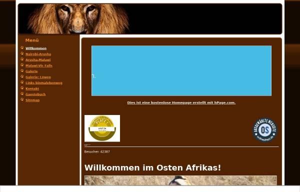 Vorschau von ostafrika.npage.de, 6.000 Kilometer durch Ostafrika [Peter Belina]