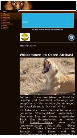 Vorschau der mobilen Webseite ostafrika.npage.de, 6.000 Kilometer durch Ostafrika [Peter Belina]