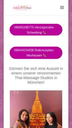 Vorschau der mobilen Webseite thida-thai-massage.de, Thida Thai Massage GbR