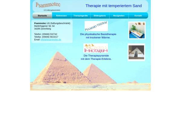 Vorschau von psammotec.de, Psammotec UG (haftungsbeschränkt)