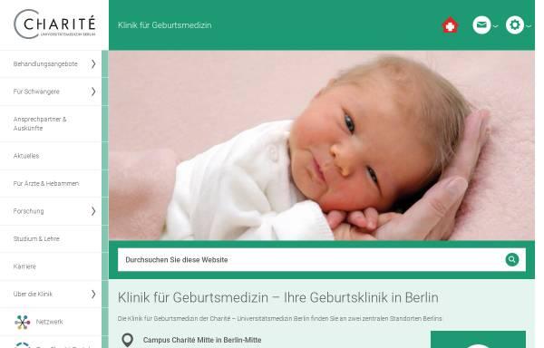 Vorschau von geburtsmedizin.charite.de, Klinik für Geburtsmedizin der Charité- Universitätsmedizin Berlin