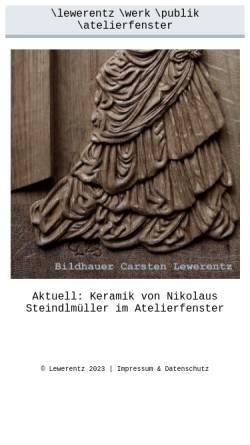 Vorschau der mobilen Webseite www.atelierfenster.com, Lewerentz, Carsten