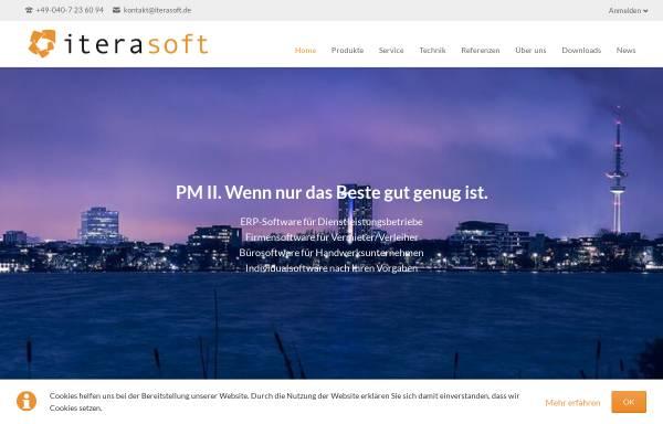 Vorschau von www.iterasoft.de, PM II – Software für das Unternehmensmanagement
