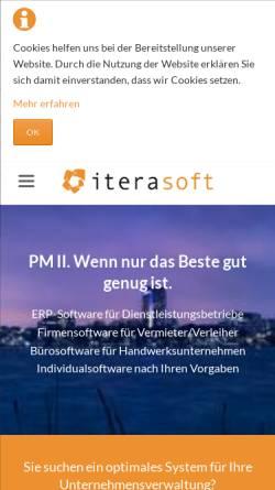 Vorschau der mobilen Webseite www.iterasoft.de, PM II – Software für das Unternehmensmanagement