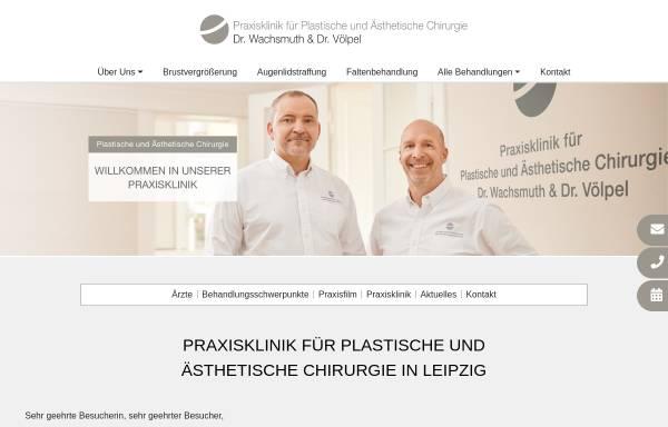 Vorschau von www.wachsmuth-voelpel.de, Praxisklinik für Plastische und Ästhetische Chirurgie Dr. Wachsmuth & Völpel