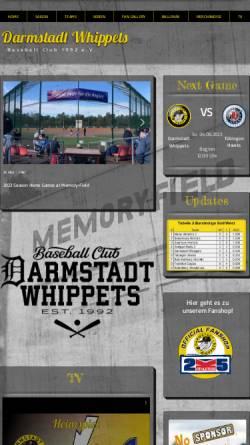 Vorschau der mobilen Webseite www.darmstadt-whippets.de, Darmstadt Whippets