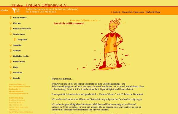Vorschau von wendo-frauenoffensiv.de, Frauen Offensiv e.V.