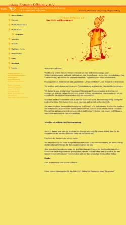 Vorschau der mobilen Webseite wendo-frauenoffensiv.de, Frauen Offensiv e.V.