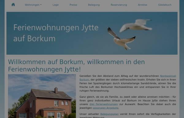 Vorschau von www.ferienwohnungen-jytte.de, Ferienwohnungen Jytte Borkum