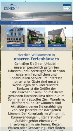 Vorschau der mobilen Webseite www.haus-ennen.de, Haus Ennen