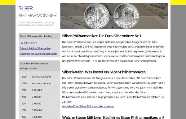 Vorschau von www.silber-philharmoniker.de, Silber-Philharmoniker, Roman Schneider