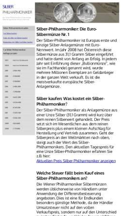 Vorschau der mobilen Webseite www.silber-philharmoniker.de, Silber-Philharmoniker, Roman Schneider