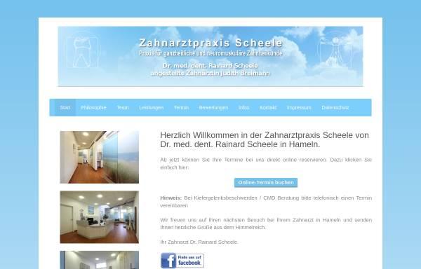 Vorschau von www.zahnarzt-scheele.de, Scheele , Dr. med. dent. Rainard
