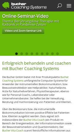 Vorschau der mobilen Webseite www.bucher-coaching.de, Bucher GmbH
