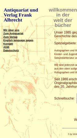 Vorschau der mobilen Webseite www.antiquariat.com, Antiquariat Frank Albrecht