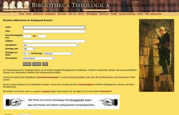Vorschau von www.antiquariat-kretzer.de, Antiquariat Kretzer