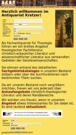 Vorschau der mobilen Webseite www.antiquariat-kretzer.de, Antiquariat Kretzer