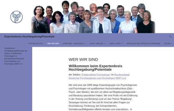 Vorschau von www.die-hochbegabung.de, Berufsverband deutscher Psychologen (BDP)