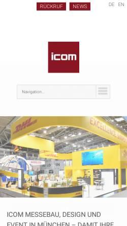 Vorschau der mobilen Webseite www.icom-messebau.de, Icom Messebau GmbH