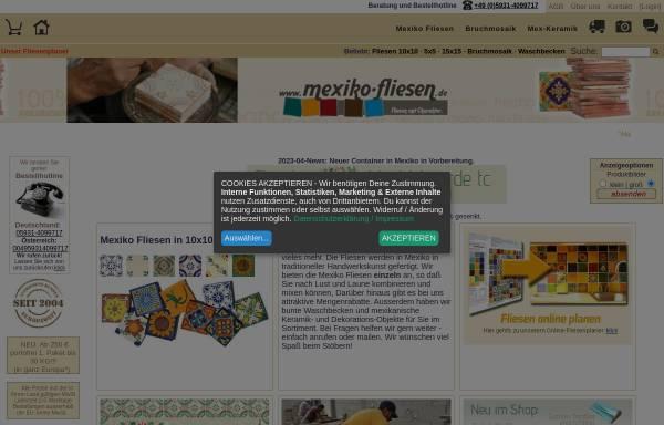 Vorschau von www.mexiko-fliesen.de, Mexiko Fliesen Kuipers & Luebben GbR