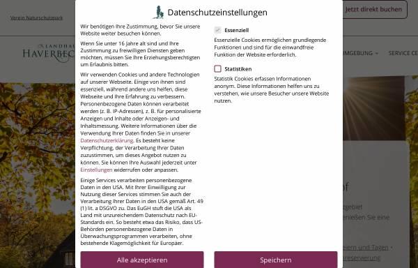 Vorschau von www.haverbeckhof.de, Landhaus Haverbeckhof