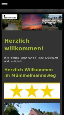 Vorschau der mobilen Webseite www.pension-kroeger.de, Pension Kröger, Irma Kröger