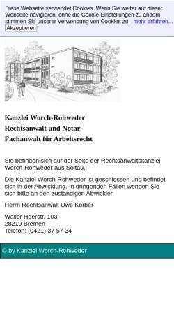 Vorschau der mobilen Webseite www.anwaelte-soltau.de, Anwälte Worch-Rohweder & Struck