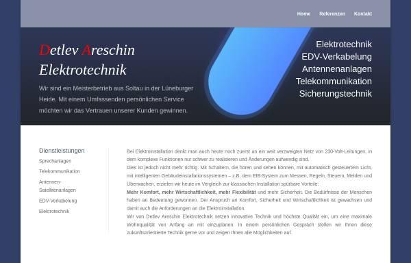 Vorschau von www.areschin.de, Areschin Elektrotechnik