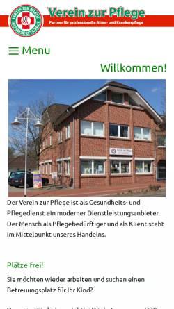 Vorschau der mobilen Webseite www.verein-zur-pflege.de, Verein zur Pflege Hilfsbedürftiger e.V.