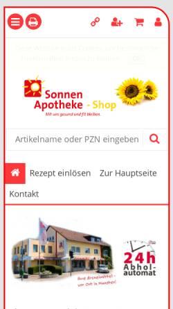 Vorschau der mobilen Webseite shop.sonnenapotheke-munster.de, Sonnen-Apotheke, Jürgen Zörner
