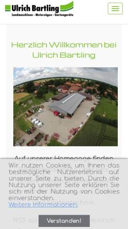 Vorschau der mobilen Webseite www.landtechnik-bartling.de, Ulrich Bartling