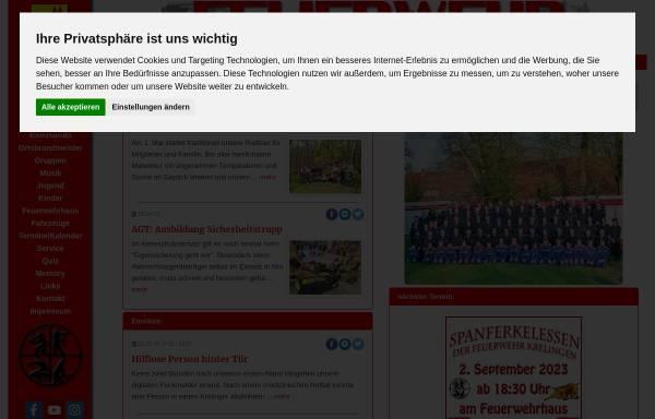 Vorschau von www.ff-krelingen.de, Feuerwehr Krelingen