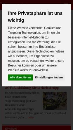 Vorschau der mobilen Webseite www.ff-krelingen.de, Feuerwehr Krelingen