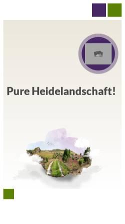 Vorschau der mobilen Webseite www.bispingen-touristik.de, Bispingen