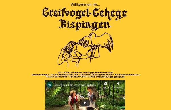 Vorschau von www.greifvogel-gehege.de, Greifvogel-Gehege
