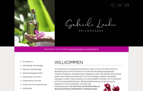 Vorschau von www.heilmassage-lauder.wien, Gabriele Lauder - Heilmassage