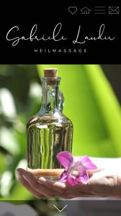 Vorschau der mobilen Webseite www.heilmassage-lauder.wien, Gabriele Lauder - Heilmassage
