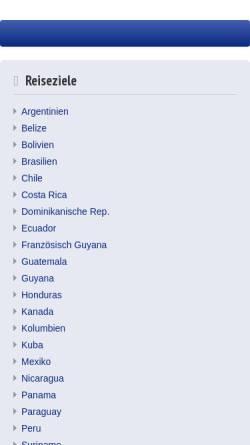 Vorschau der mobilen Webseite www.amerigoo.de, Amerigoo