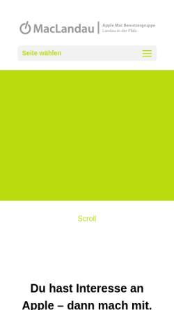 Vorschau der mobilen Webseite www.maclandau.de, MacLandau