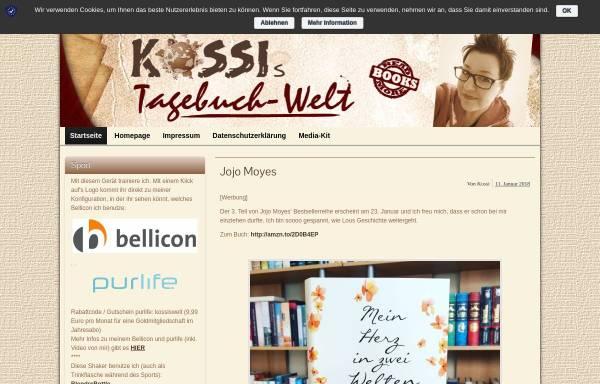 Vorschau von www.kossis-welt.de, Kossis Tagebuchwelt