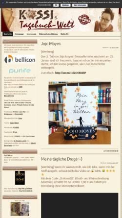 Vorschau der mobilen Webseite www.kossis-welt.de, Kossis Tagebuchwelt