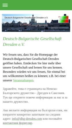 Vorschau der mobilen Webseite dbg-dresden.com, Deutsch-Bulgarische Gesellschaft Dresden