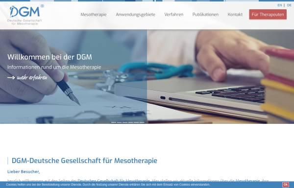 Vorschau von www.mesotherapie.org, Deutsche Gesellschaft für Mesotherapie e.V.