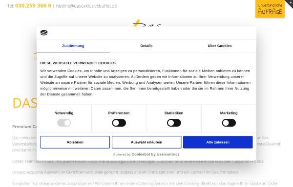 Vorschau von www.dasexklusivebuffet.de, Das exklusive Buffet - Hagen Streckenbach Catering GmbH