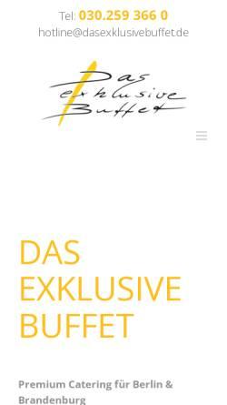 Vorschau der mobilen Webseite www.dasexklusivebuffet.de, Das exklusive Buffet - Hagen Streckenbach Catering GmbH