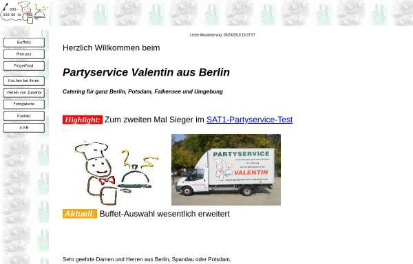 Vorschau von www.partyservice-valentin.de, Partyservice Valentin
